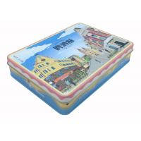 Quality Colorful Crackle Plain Rectangle Tin Box With LFGB Food Grade Certificate for sale