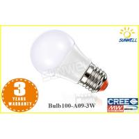 China Hotel Aluminum Warm White 12v 3w led bulbs , energy saving light bulbs on sale