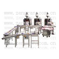 Quality Automatic weighing and palletizing carton packaging machinery for sale