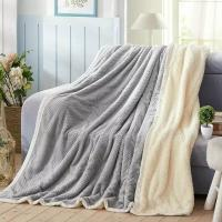 Quality Fashion Embossed Plush Flannel Throw Blanket Anti Crease For Chair / Bed / Sofa for sale