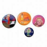 Quality Button Badges for Promotions, Available in Different Sizes for sale