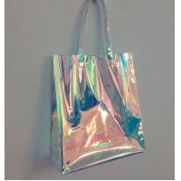Quality Rainbow Laser Hologram Travel Cosmetic Handbag Rainbow Laser PVC Tote Bag Rainbow Laser Shoulder Bag for sale