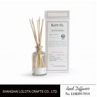 Quality 120ml clear bottle reed diffuser with customized fragrance and gift box for sale