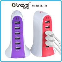 China SL-156 6-ports desktop Smart Quick Charging universal travel charger for iphone, Samsung,Huawei,xiaomi USB device on sale
