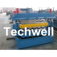 Quality 0 - 15m/min Forming Speed, PLC Control Dual Level Roll Former For Two Roofing Profiles for sale