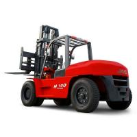 Buy JAC 10 Ton Diesel Forklift , Large Capacity Counterbalance Forklifts , Heavy Equipment Forklift , Red Or Orange Color at wholesale prices