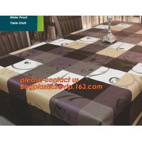 China PVC European style square table cloth waterproof Oilproof non wash plastic pad plus velvet anti hot coffee tablecloth on sale
