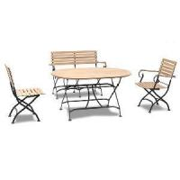 Quality Garden Foldabl Chair & Table Iron Dining Set (BZ-DS011) for sale