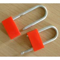 China Galvanized Perch Red Plastic Padlock Security Seals For Truck / Trailer on sale