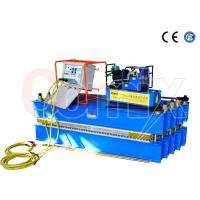 Quality Steel Cord Conveyor Belt Vulcanizing Press Machine , Blue Automatic Vulcanizing Machine for sale