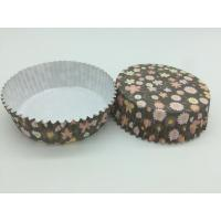 Quality Round Flower Printed Cupcake Liners, Disposable Muffin Paper Cups Heat Resistant for sale
