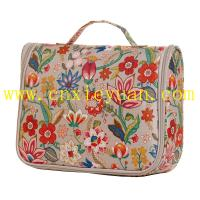 China Flowers Bloom Hanging Toiletry Bag Travel Cosmetic/Makeup Case on sale