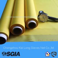 China Screen Printing Mesh With 100% Polyester In Yellow Or White For Packaging Printing on sale
