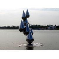 China Outdoor Abstract Stainless Steel Garden Sculptures , Decoration Metal Garden Ornaments on sale