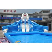 Quality Outdoor Bear Giant Inflatable Water Park With EN14960 0.55mm PVC Tarpaulin Material for sale