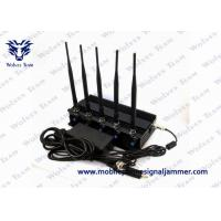 China Cell Phone GPS Jammer 5 High Power Antenna Outstanding Heat Dissipation on sale