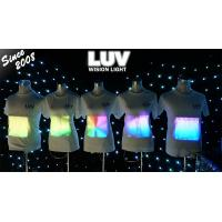 Quality movie light up shirts programmable message,screen/display special   music concert for sale