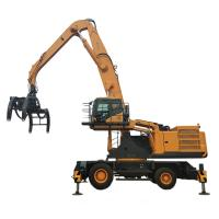 Quality 50 Ton WLYS50 Dual Power Material Handling Machine Hydraulic Wheeled Material Handler for sale