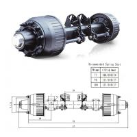 Quality trailer axle,German Axle for sale