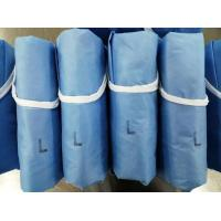 Quality Blue Disposable Surgical Gown Examination Low Linting High Barrier Performance for sale