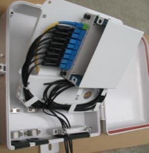 PC ABS Waterproof Fiber Distribution Box 1 Port Cassette 1 * 8 For Lan / CATV