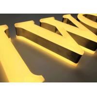 Quality 3D Brushed Stainless Steel Channel Letter Signs Hand Crafted Beauty Front / Halo Lit for sale