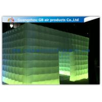 China Pvc Coated Nylon Inflatable Air Tent Square Tent Booth With Led Lighting on sale
