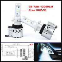Buy cheap G8 72W 12000LM LED headlight H4 H7 H16 H9 H10 H11 9005 9006 CREE LED Headlight from wholesalers