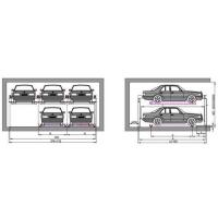 Buy cheap Customized Voltage Mechanical Parking Garage Back Cantilever Lift For Car from wholesalers