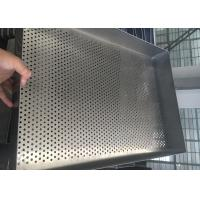 China Baking Filter Stainless Steel Wire Mesh Trays , Square Mesh Metal Tray on sale