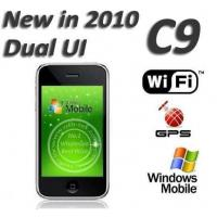 C9 Dual UI 3.5 inch Touch Screen Windows Mobile 6.5 Built in GPS WIFI 4GB 8GB