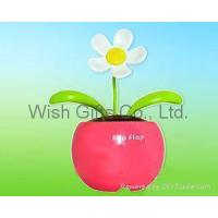 Quality Solar Dancing Flower with mini apple pot for sale