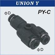 Quality Compact One Touch Tube Fittings Union Y for sale