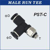 Quality Compact One Touch Tube Fittings Male Run Tee for sale