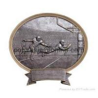 Quality polyresin sports trophy, trophy awards magnet, wall plaque for sale