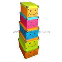 Quality Smiling Face Paper Foldable Storage Box for sale