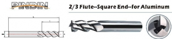 Buy 2/3FSquare end mill at wholesale prices