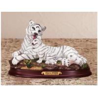 Quality Polyresin Animal Figurines Polyresin White Tiger Figurine for sale