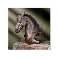 Quality Polyresin Animal Figurines Polyresin Fresian Stallion Bust for sale