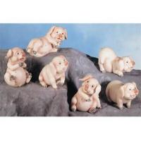 Quality Polyresin Animal Figurines Polyresin Pig Figurines Set for sale