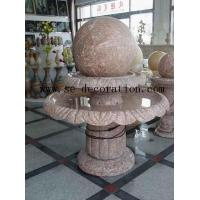 Quality Lantern Product Namered line marble two-layer fortune ball sculpture for sale