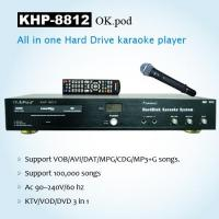 Quality KARAOKE PRODUCTS All-In-One HD karaoke player with DVD-ROM, MIC echo,Support VOB/AVI/DAT/MPG/CDG/MP3+G songs . for sale