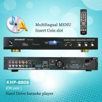 Quality KARAOKE PRODUCTS Hard drive Karaoke player, Support  VOB/AVI/DAT/MPG/CDG/MP3+G songs,Multinational Menu for sale