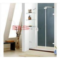 Dubai Series One Fixed Glass Panel Shower Screen with Two Sliding Door added Glass Shelf
