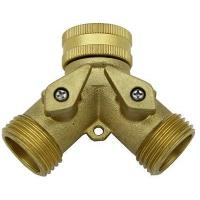Quality Adaptors & Hose Connectors GD-18741 Brass Hose Y with Shut-off for sale