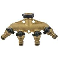 Quality Adaptors & Hose Connectors GD-18767 Brass 4-way Tap Connector for sale