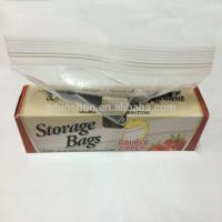 Quality Food Grade Transparent Storage Zipper Bag for sale