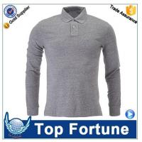 Quality professional high quality long sleeve polyester men polo shirt for sale