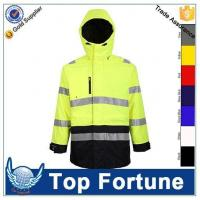 Quality polyester Padded workwear jacket coat winter HV jacket for sale