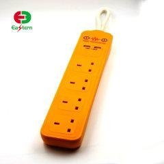 China 2 USB 4 Way Surge protector power strip extention power socket UK plug for smartphone table